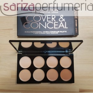 MAKEUP REVOLUTION Ultra Cover & Concealer Palette paleta 8 korektorów Light-Medium 10g