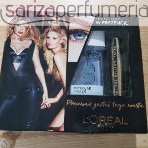 zestaw LOREAL Maskara Volume Million Lashes 10,5ml + Micellar Water 200ml